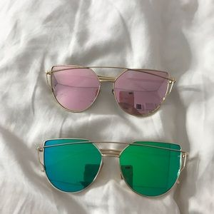 2 for $9 reflective sunglasses